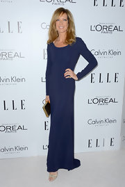 Allison Janney has never looked better than in this slender blue gown at the Women in Hollywood Celebration.