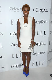 Viola looked so mod in this white shift dress at the Women in Hollywood Celebration.