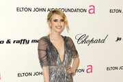 Actress Emma Roberts arrives at the 19th Annual Elton John AIDS Foundation's Oscar viewing party held at the Pacific Design Center on February 27, 2011 in West Hollywood, California.