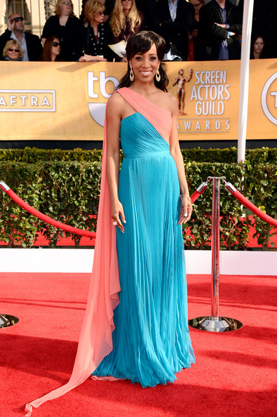 Shaun Robinson Wore Rani Zakhem at the 2013 SAG Awards