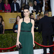 Jessica Pare Wore Forest Green and a Giant Bun at the 2013 SAG Awards