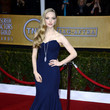 Amanda Seyfried Wore a Navy Blue Zac Posen Gown at the 2013 SAG Awards