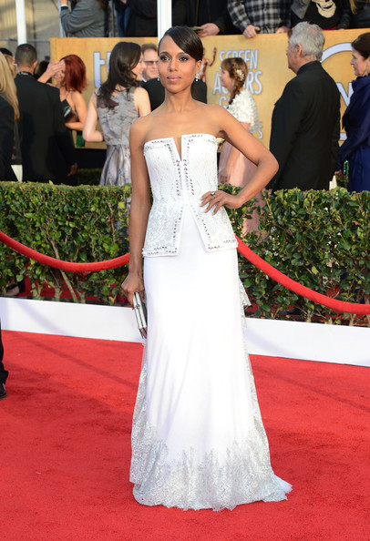 More Pics of Kerry Washington Strapless Dress (1 of 17) - Kerry Washington Lookbook - StyleBistro