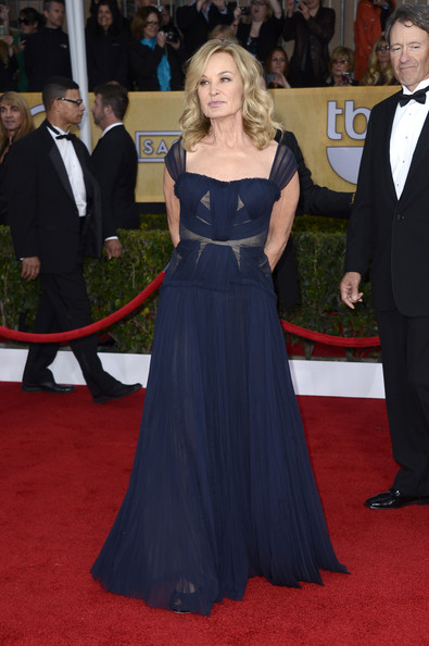 Jessica Lange Wore a Deep Blue Gown at the 2013 SAG Awards