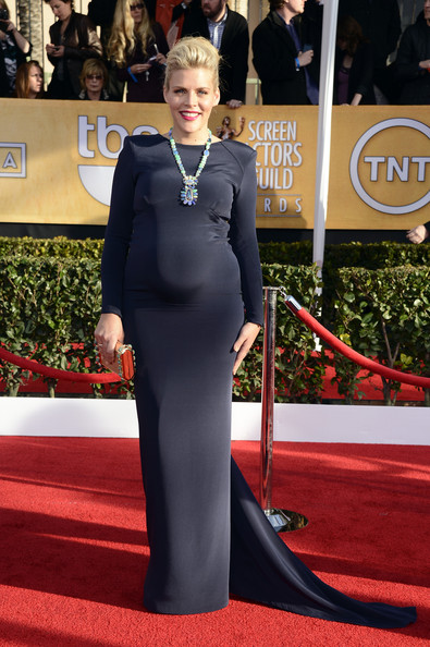 Busy Philipps Wears a Statement Black Gown at the 2013 SAG Awards