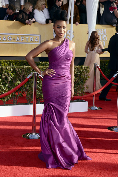 Teyonah Parris Wore a ML Monique Lhuillier Gown at the 2013 SAG Awards