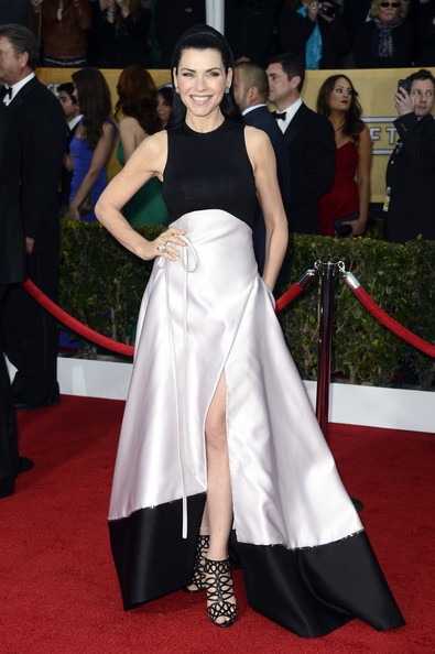 Julianna Margulies in Black and White at the 2013 SAG Awards