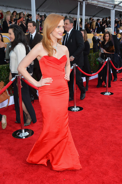 More Pics of Jessica Chastain Mermaid Gown (1 of 19) - Mermaid Gown Lookbook - StyleBistro