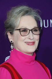 Meryl Streep wore her hair in a loose bun at the Costume Designers Guild Awards.