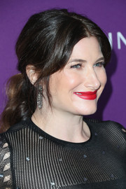 Kathryn Hahn styled her hair into a romantic wavy ponytail for the Costume Designers Guild Awards.