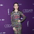 Lily Collins in Alexander McQueen