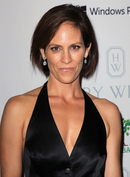 Annabeth Gish wore her hair in a classic bob at the Baby2Baby Gala.