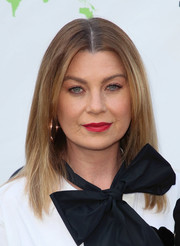 Ellen Pompeo styled her hair into a simple center-parted 'do for the Environmental Media Association Honors Benefit Gala.