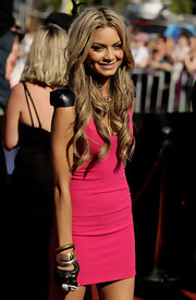 Havana Brown stacked up a couple of metallic bangles to give her ARIA Awards look that tough-chic vibe.