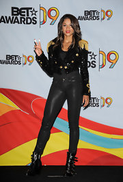 Showing her support for legend Michael Jackson, Ciara wore an interesting pair of buckled ankle boots.