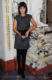 Alessandra Mastronardi's gray mini dress had a bit of a futuristic vibe. We love that twist of fabric on the neckline.