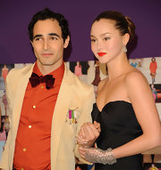 Zac Posen showed up at the CFDA Award's where he showed off his orange shirt and velvet tie.
