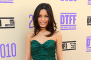 Freida Pinto Wears a Strapless Brocade Dress
