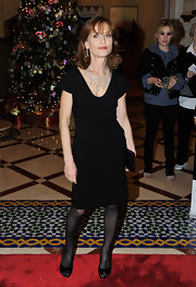 Isabelle Huppert kept it simple at the Dubai International Film Festival with this LBD, but the jewelry was stunning!