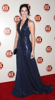 Jamie Alexander looked like a vision at the ET Emmy Party as she wore a sparkling midnight blue number that played up her glowing skin.