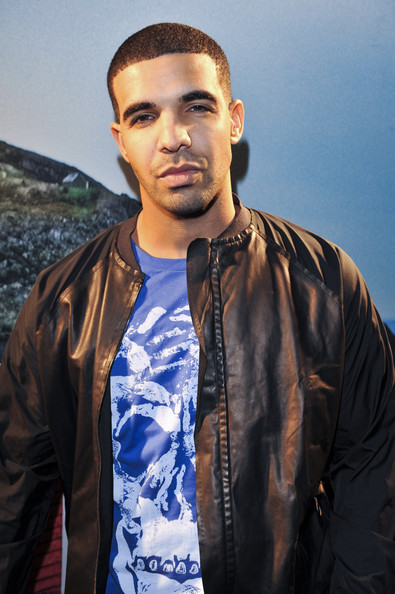 More Pics of Drake Leather Coat (1 of 10) - Outerwear Lookbook - StyleBistro [hair,blue,cool,hairstyle,fashion,forehead,jacket,human,textile,leather,drake,2010 juno awards,right coast,st. johns,canada,majestic theatre,red bull,party]