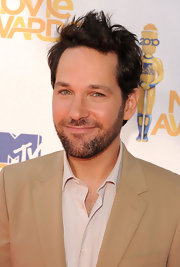 Paul Rudd showed off a messy but perfectly manicured spiked cut.