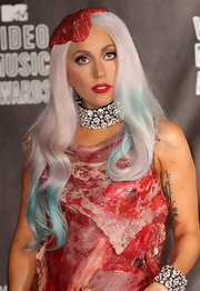 Lady Gaga paired her now infamous meat dress with a classic red lip. What a perfect match!