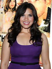 America Ferrera showed off her long brunette curls while hitting 'The Dry Land' premiere.