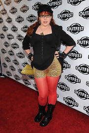Kristen Vangsness was one glamorous tough chick in these combat boots.
