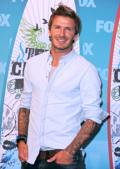More Pics of David Beckham Spiked Hair (4 of 29) - David Beckham Lookbook - StyleBistro