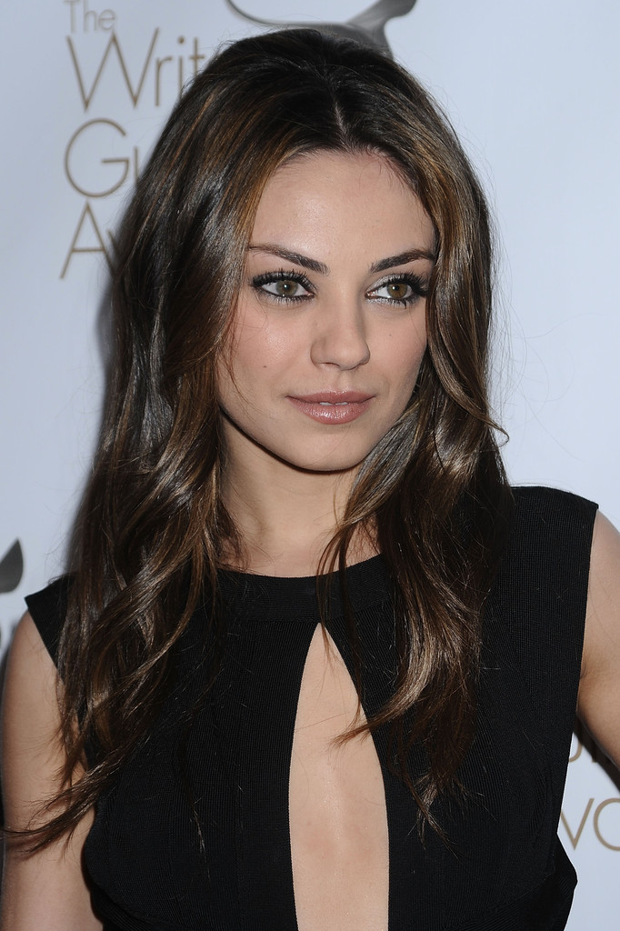 Mila Kunis Hairstyles For Round Faces Stylebistro