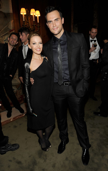 Cheyenne Jackson went for an elegant black-on-black look with his suit, shirt, and tie ensemble.