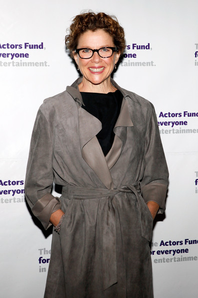 More Pics of Annette Bening Short Curls (1 of 3) - Annette Bening Lookbook - StyleBistro [clothing,hairstyle,fashion design,outerwear,suit,formal wear,premiere,dress,long hair,eyewear,new york city,actors fund gala,annette benning,marriot marquis]