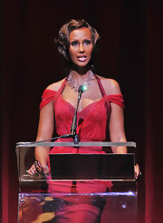 Iman dazzled the crowd at the 2011 Alvin Ailey American Dance Theater's opening night gala performance while wearing a 19th century diamond fringe necklace.