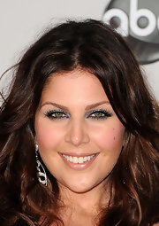 Hillary Scott wore sparkly metallic silver shadow and ultra long lashes at the 2011 American Music Awards.