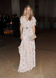 Meredith Melling-Burke wore a sweet airy print evening gown for the Apollo Circle Benefit.