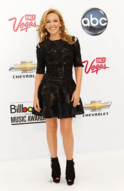 Kylie Minogue made a statement at the Billboard Music Awards in fringed Change of the Guard peep-toes.