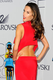 Top supermodel Alessandra Ambrosia was flirty and playful at the 2011 CFDA Fashion Awards. She paired her sexy red Prabal Gurung gown with soft curls.