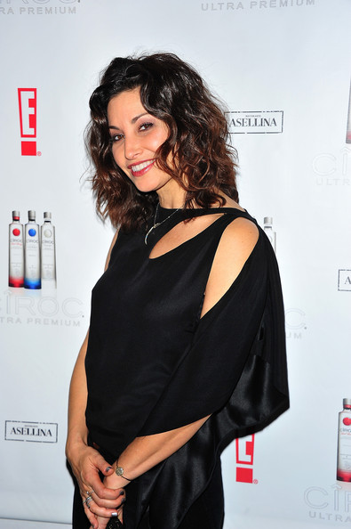 More Pics of Gina Gershon Medium Wavy Cut (1 of 6) - Shoulder Length Hairstyles Lookbook - StyleBistro [hair,clothing,shoulder,dress,hairstyle,beauty,fashion,joint,little black dress,neck,ciroc,gina gershon,gansevoort park avenue,new york city,the new year,party]