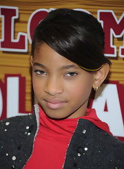 Willow Smith kept her look sleek and cool with a straight 'do.