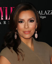 Eva Longoria wore an ultra long pair of false lashes at the 2011 Hollywood Style Awards.