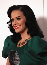 Katy Perry attended the Logie Awards with retro waves that were parted down the side.