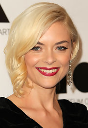 Jaime King wore her hair pinned up with a glamorous face-framing tendril at the 2011 MOCA Gala.