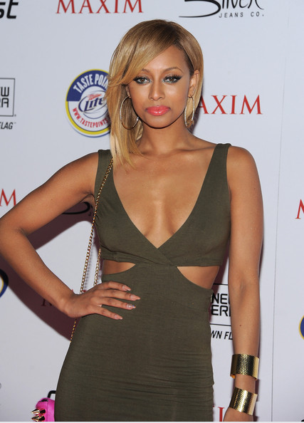 Keri Hilson showed off her sharp tips in a neutral nude hue at the 'Maxim' Hot 100 party.