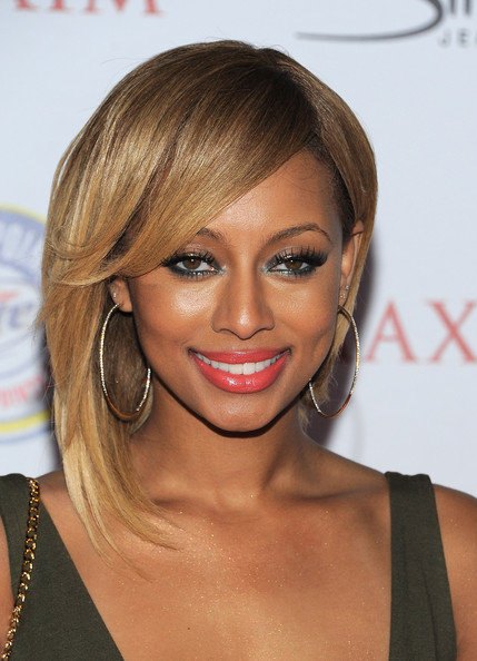 Keri Hilson gave her look a pop of color with coal lipstick at the 2011 'Maxim' Hot 100 party.