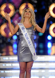 At the 2011 Miss America Pageant, Miss Nebraska thanked the heavens for her bangin' bod and silver mini dress.