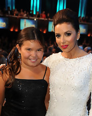 Eva Longoria wore a vibrant, shiny red lipstick at the 2011 NCLR ALMA Awards.