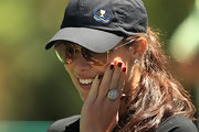 Ana Ivanovic added some glamour to her outfit with a huge cocktail ring at the 2011 Presidents Cup.