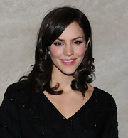 Katherine McPhee wore a satin finish candy pink lipstick at the 2011 Rockefeller Center Christmas tree lighting ceremony.
