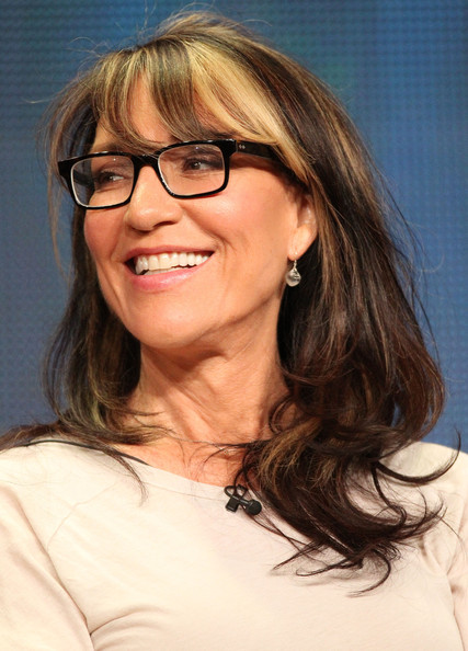 Katey Sagal sported a streaked shoulder-length layered hairstyle at the 2011 Summer TCA Tour.